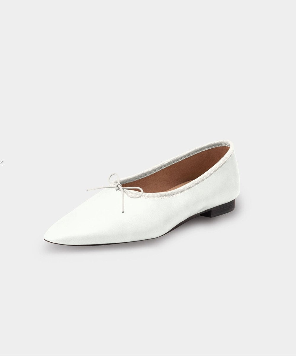 KASHIYAMA Women's shoes 【受注生産】ディープバレリーナ ホワイト