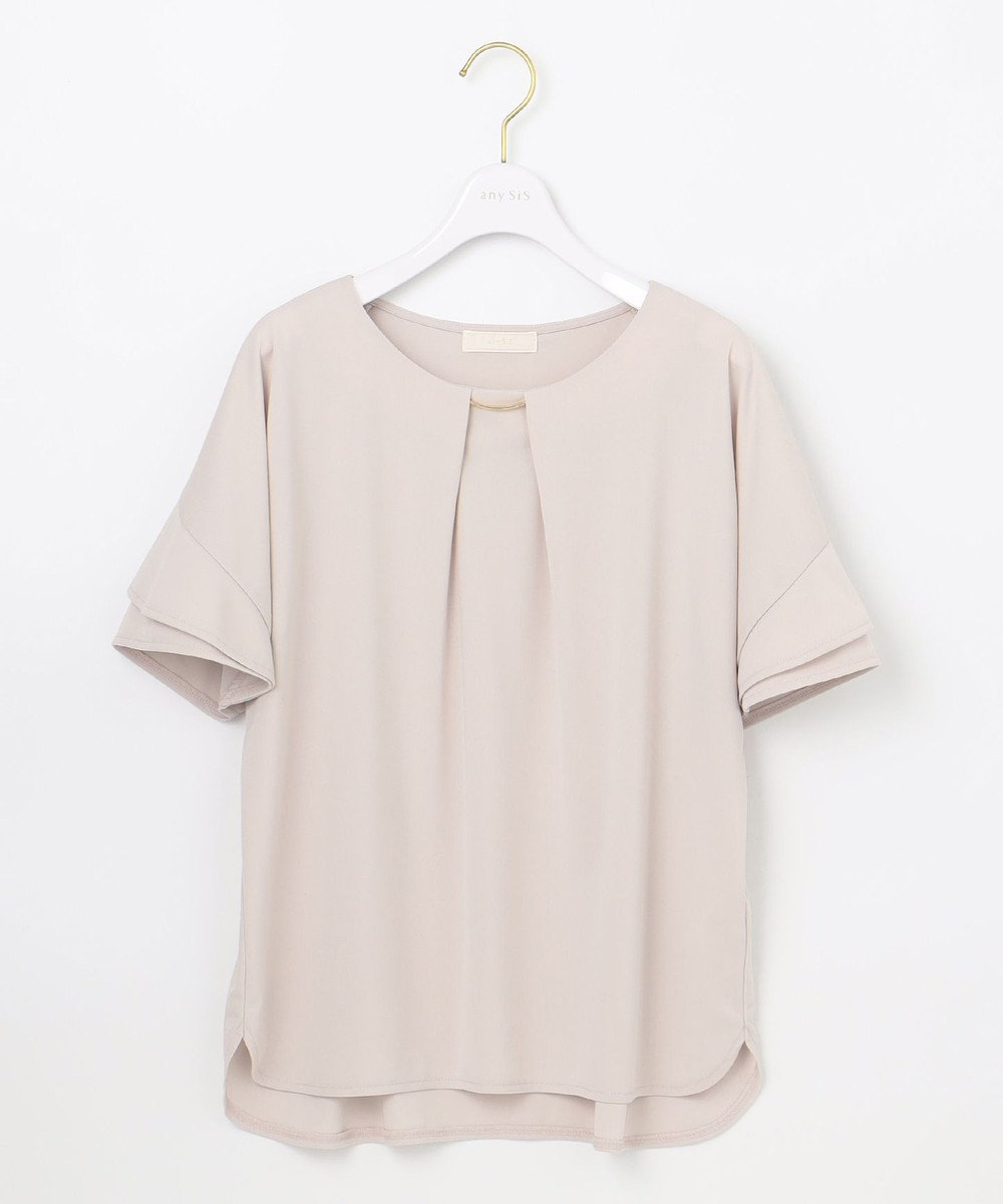 any SiS 【UVケア】エアリードレープスムース 半袖 トップス ローズグレー