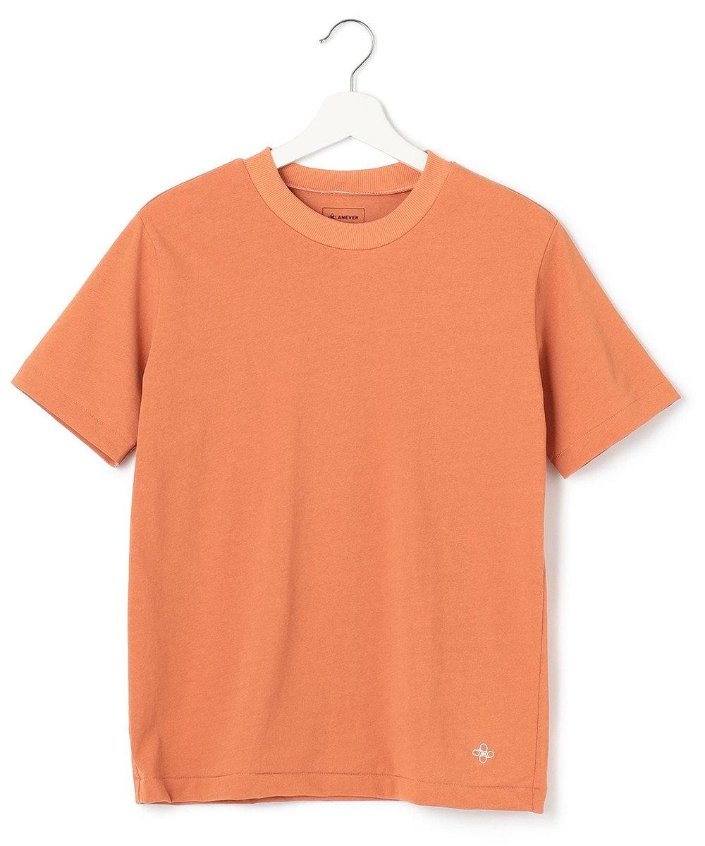 ANEVER 【SEDUM】洗える パッケージTシャツ オレンジ系