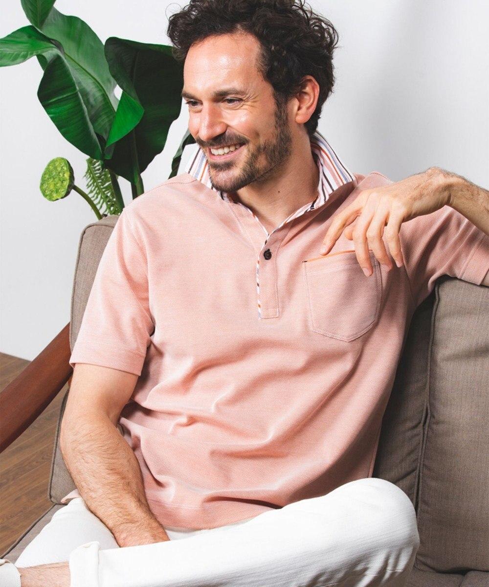 JOSEPH ABBOUD OGクールダディ ポロシャツ オレンジ系1