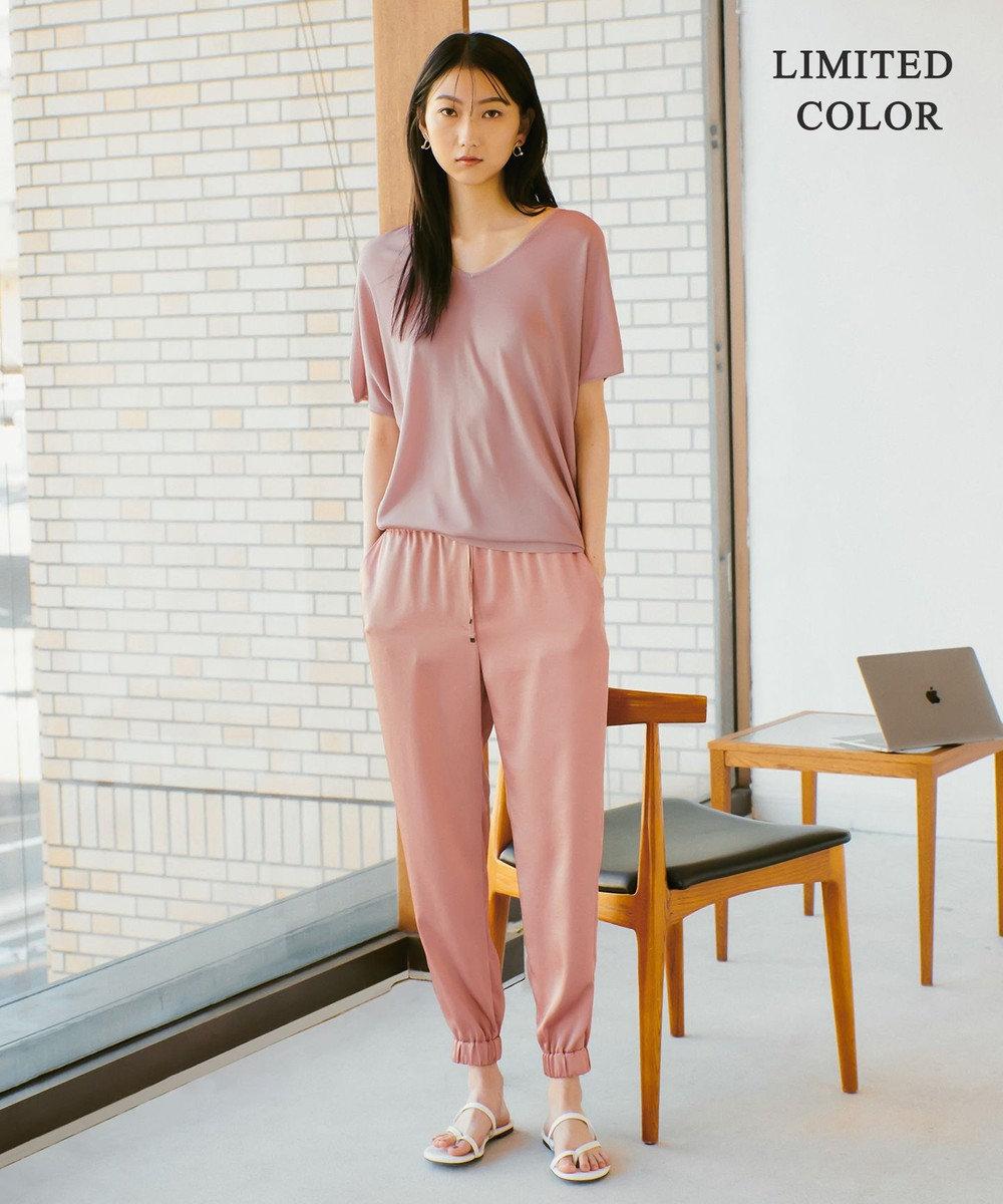 ICB 【WEB限定カラーあり】Synthetic Yarn 半袖 ニット ピンク系[WEB限定]