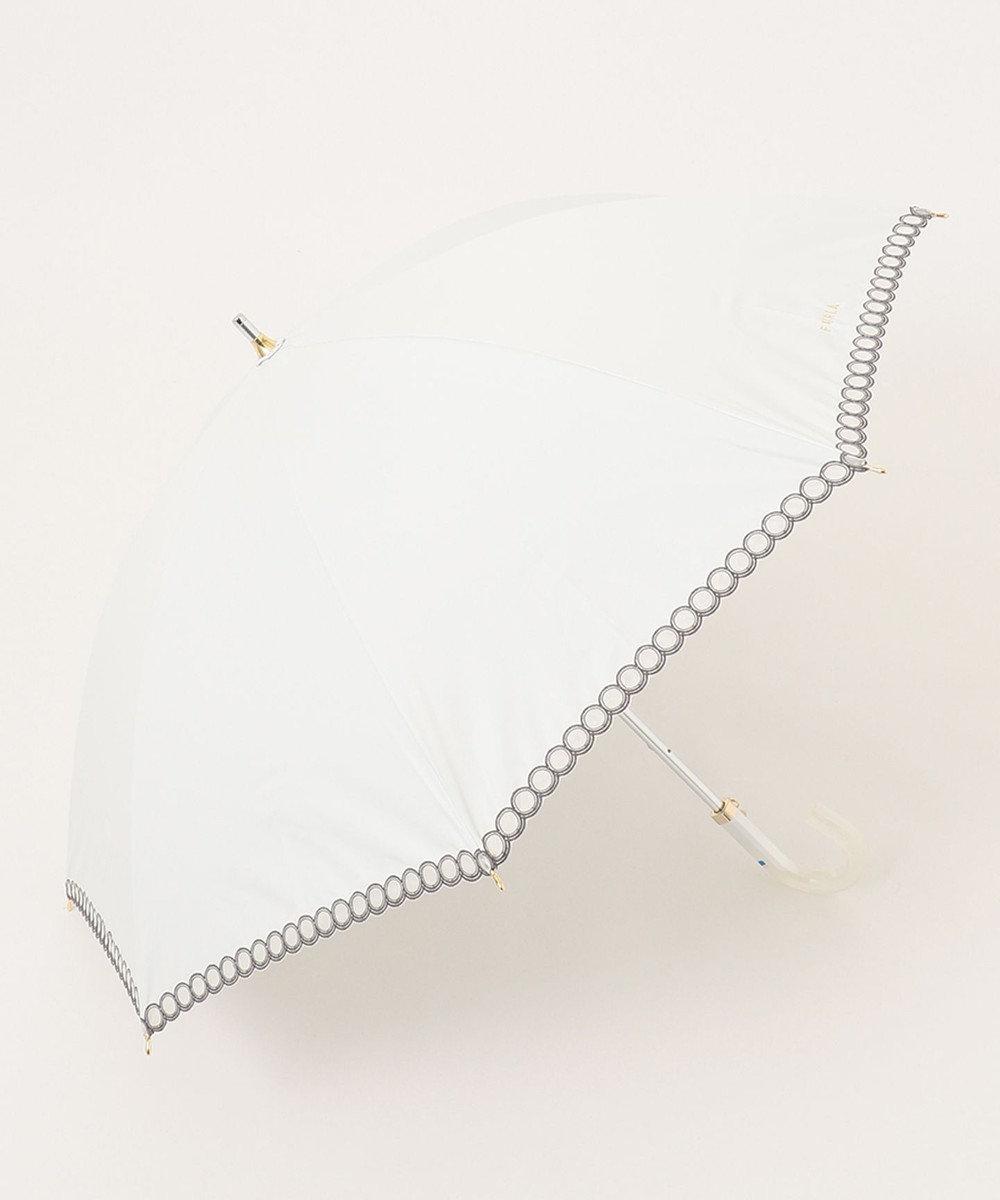 MOONBAT 【一級遮光】FURLA 晴雨兼用長傘 オーガンジー ホワイト