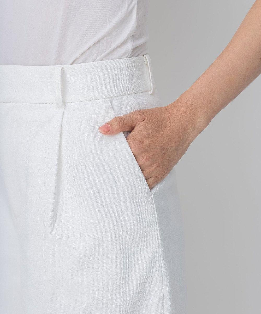 自由区 L 【接触冷感・吸水速乾・UVカット】パーフェクトパンツ ワイド ホワイト系