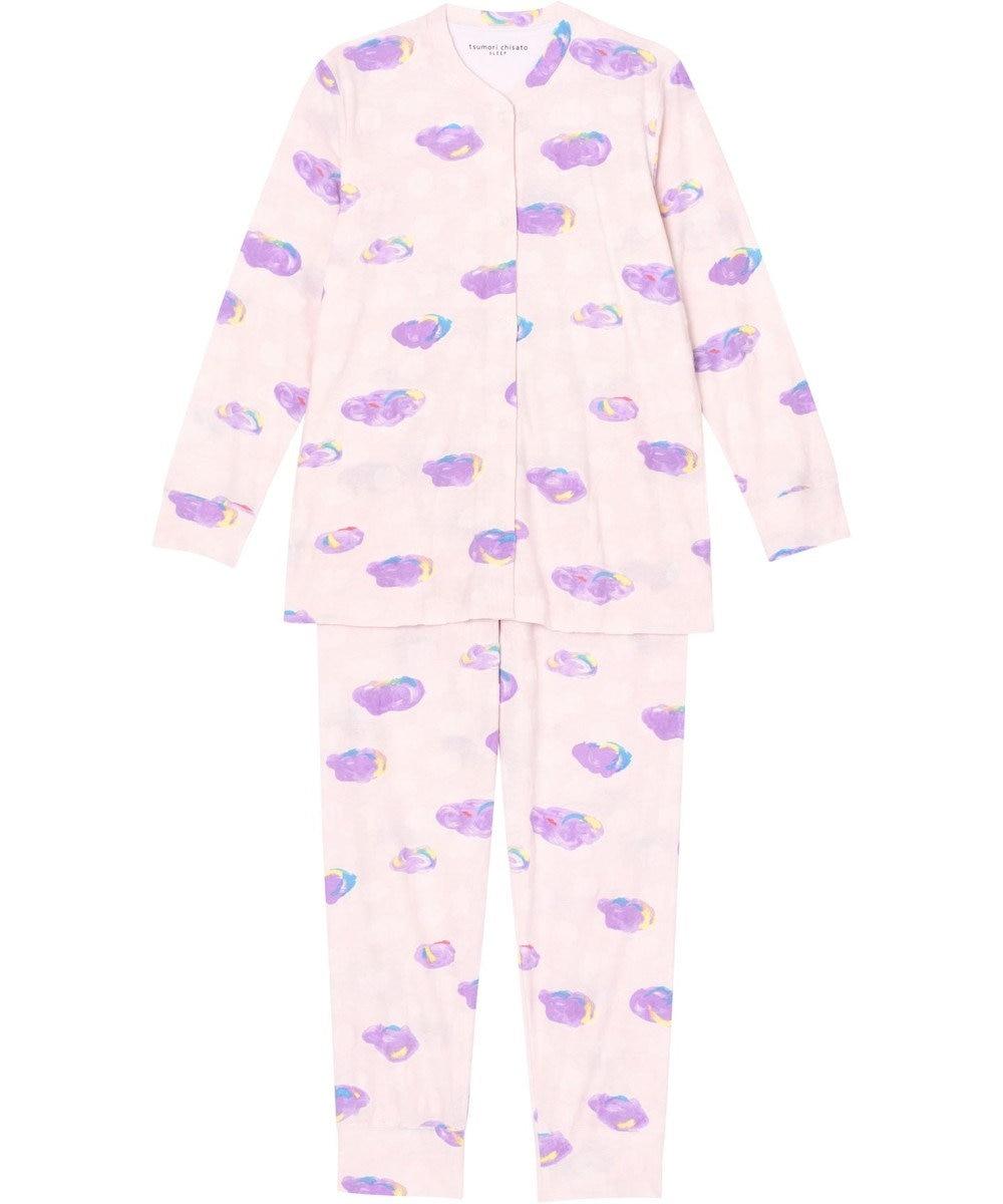 tsumori chisato SLEEP パジャマ ロング袖ロングパンツ 雲柄 /ワコール UDO156 ピンク