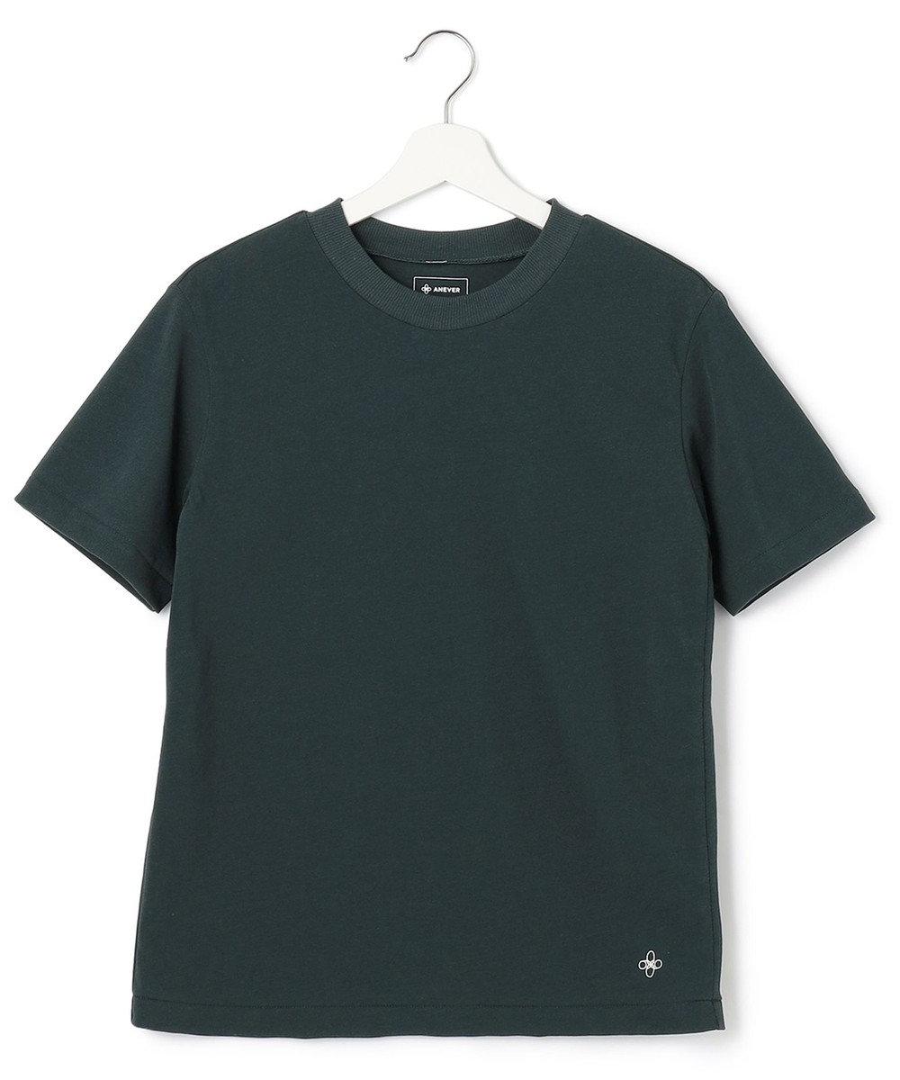 ANEVER 【SEDUM】洗える パッケージTシャツ グリーン系