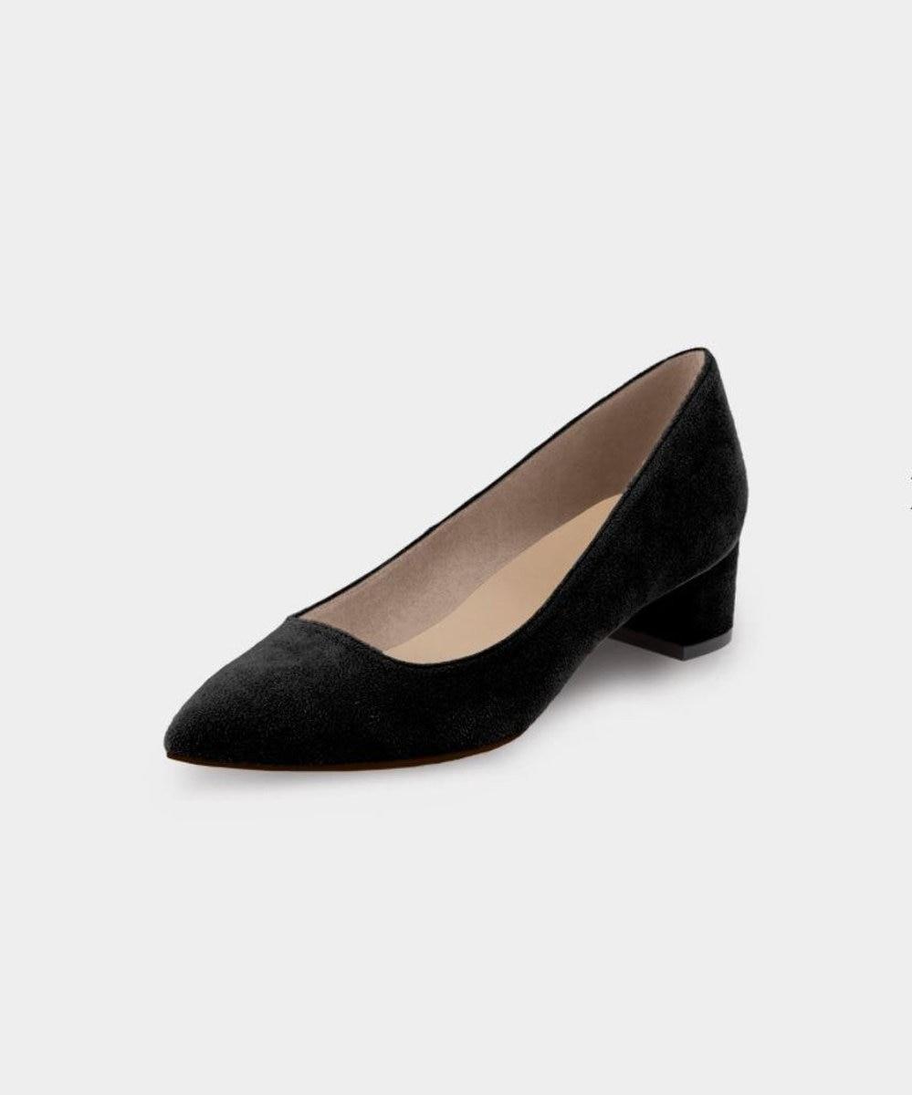 KASHIYAMA Women's shoes 【受注生産】スエードパンプス(3.5cm) ブラック