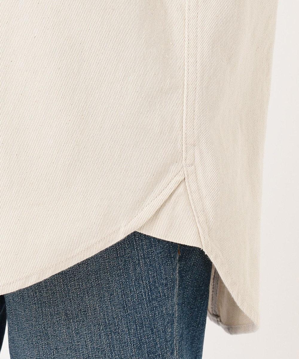 any FAM L ソフトナチュラルツイル シャツジャケット アイボリー系