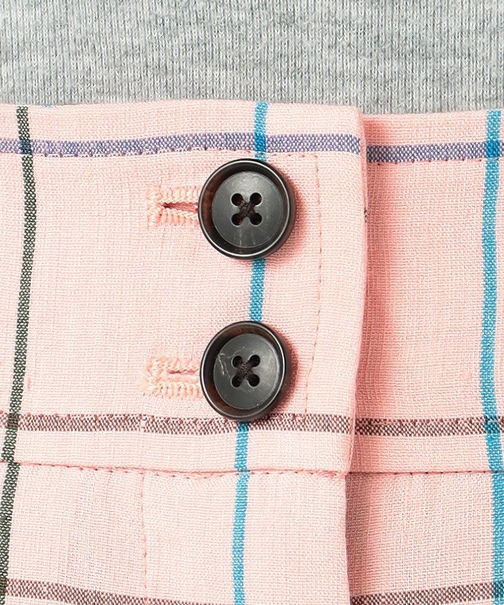 Paul Smith 【WEB&一部店舗限定アイテム・セットアップ対応】リネン ヴィスコース ペンチェック パンツ ピンク系4