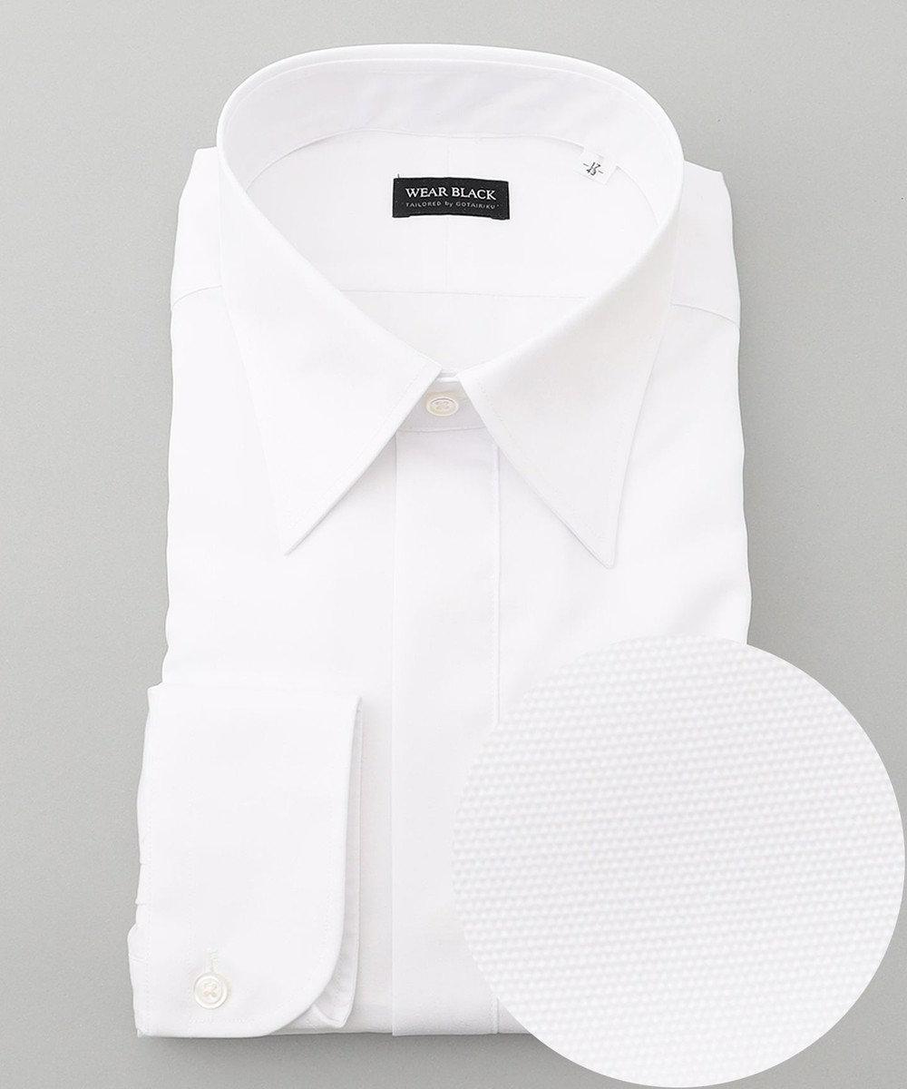 GOTAIRIKU 【WEARBLACK】フォーマルレギュラーシングルカフス ドレスシャツ ホワイト系