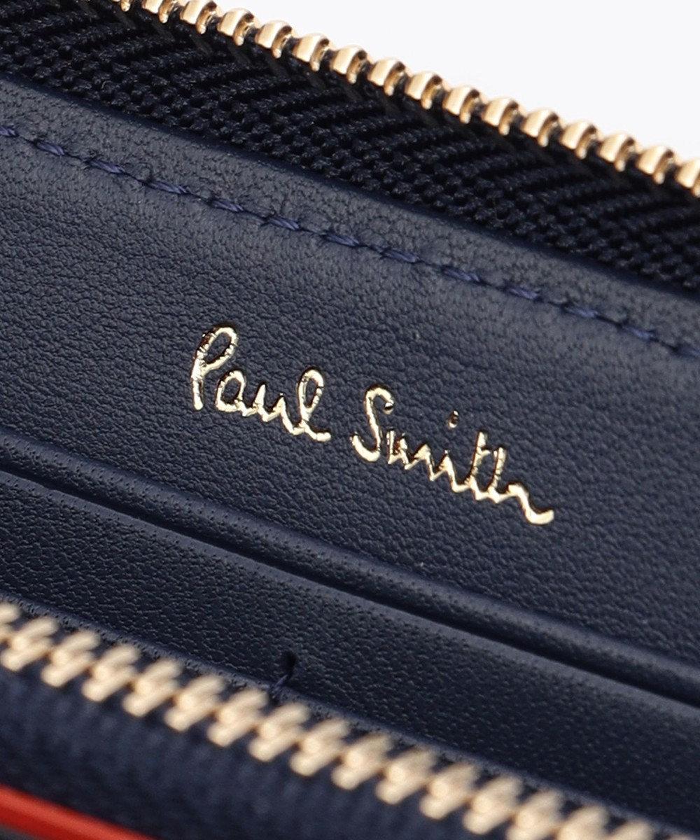 Paul Smith スワールインセット ディテール ラウンドファスナー長財布 ブルー系