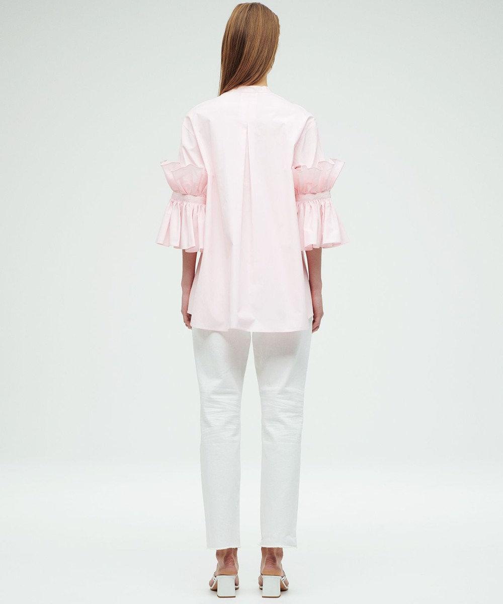 23区 【23区 lab.】ハイカウントブロード 七分袖デザイン ブラウス(番号S52) ピンク系