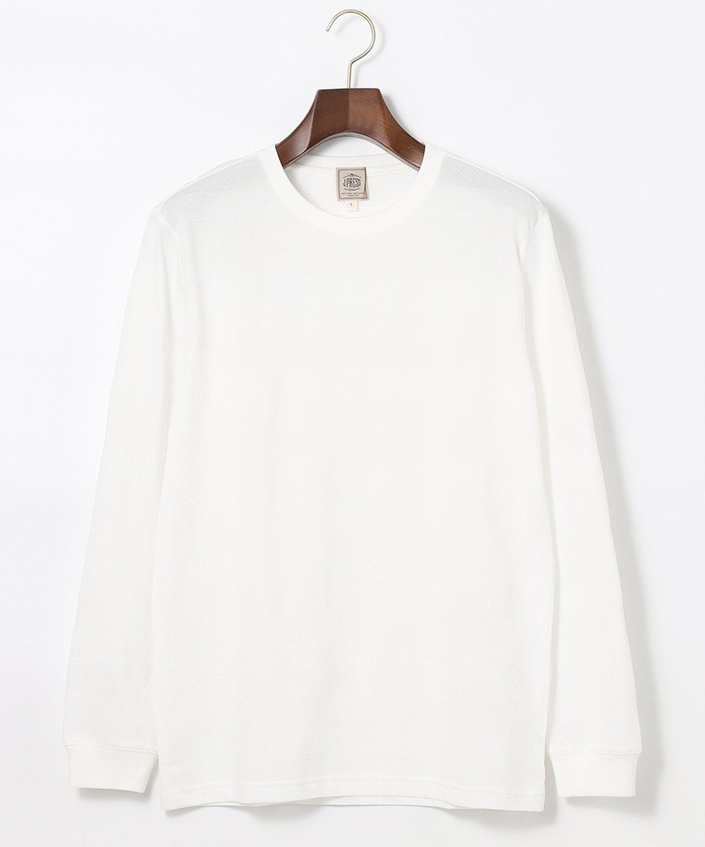 J.PRESS MEN リンクスシャドーボーダー Tシャツ ホワイト系