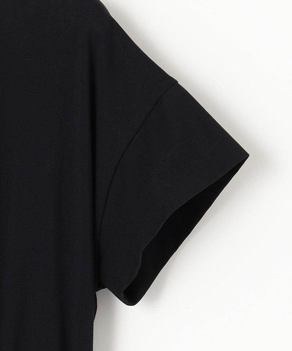 any SiS 【洗える】チェック柄ドッキング ワンピース ブラック