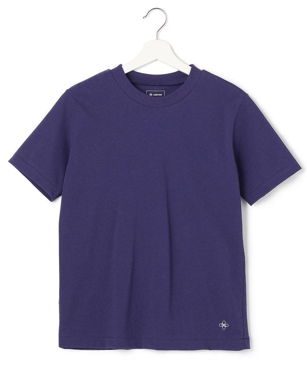 ANEVER 【SEDUM】洗える パッケージTシャツ パープル系