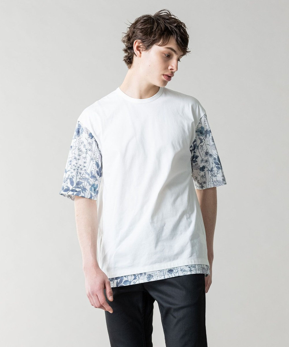 JOSEPH MEN リバティブロッキング Tシャツ ホワイト系3