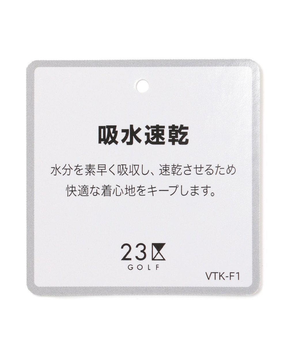 23区GOLF 【WOMEN】【Fondation/WEB限定】【吸汗速乾/ストレッチ/日本製】ハニカムライトカノコポロシャツ ホワイト系