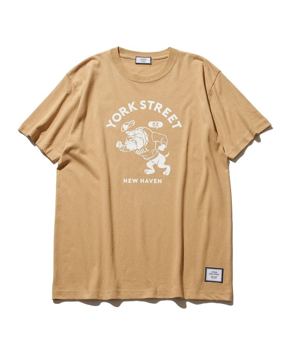J.PRESS YORK STREET 【UNISEX】ブルドック カレッジ Tシャツ ベージュ系