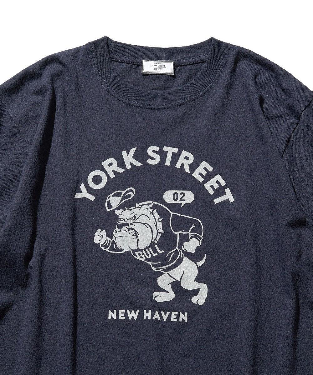 J.PRESS YORK STREET 【UNISEX】ブルドック カレッジ Tシャツ ネイビー系