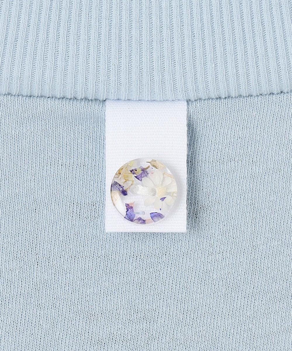 ANEVER 【SEDUM】洗える パッケージTシャツ ブルー系