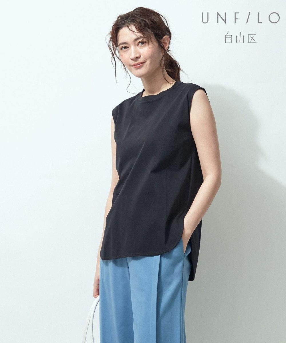 自由区 【UNFILO/Sサイズ有】ノースリーブ ティーシャツ ブラック系