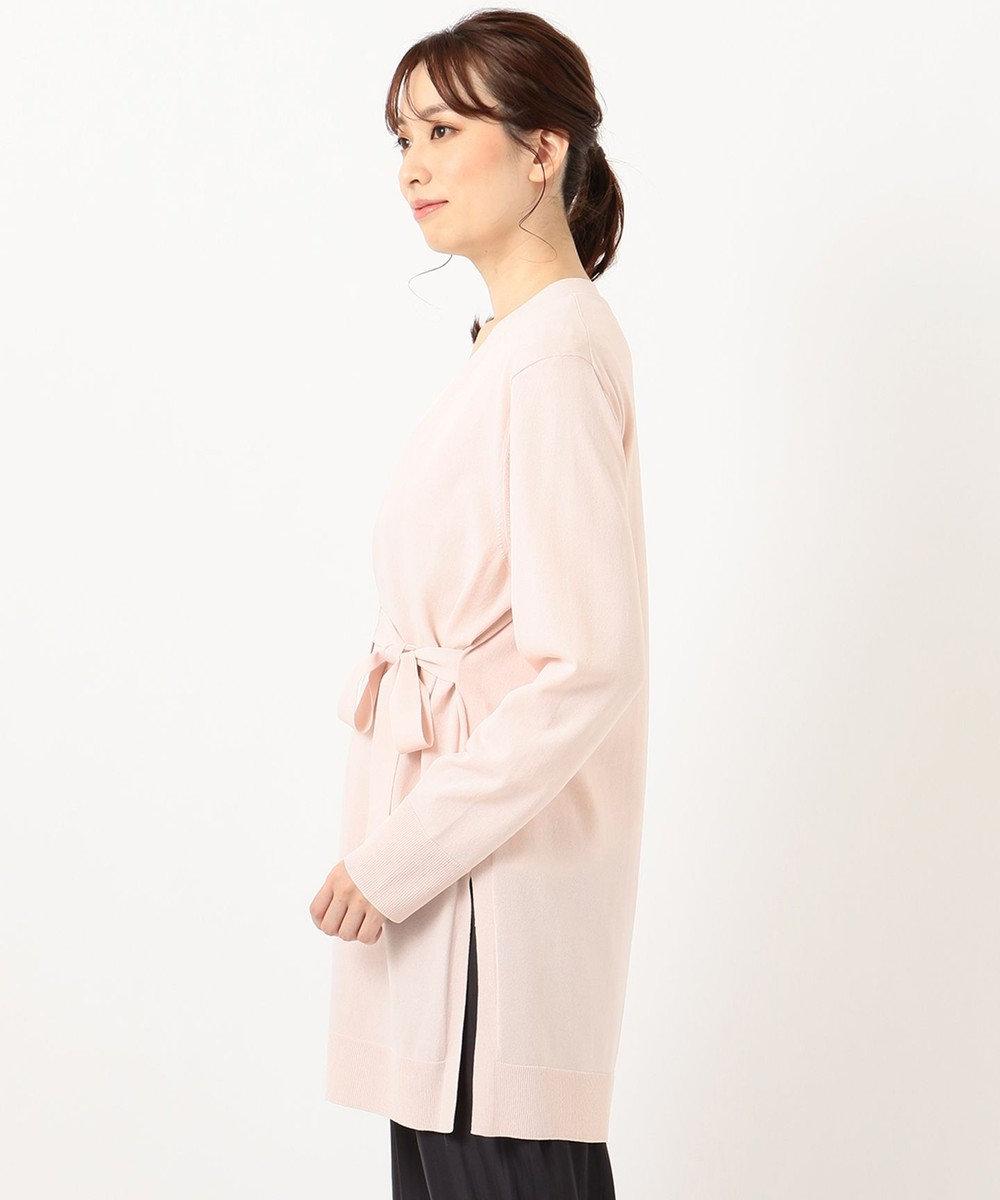 自由区 【Sサイズ有】セーブル ストレッチ カーディガン ピンク系