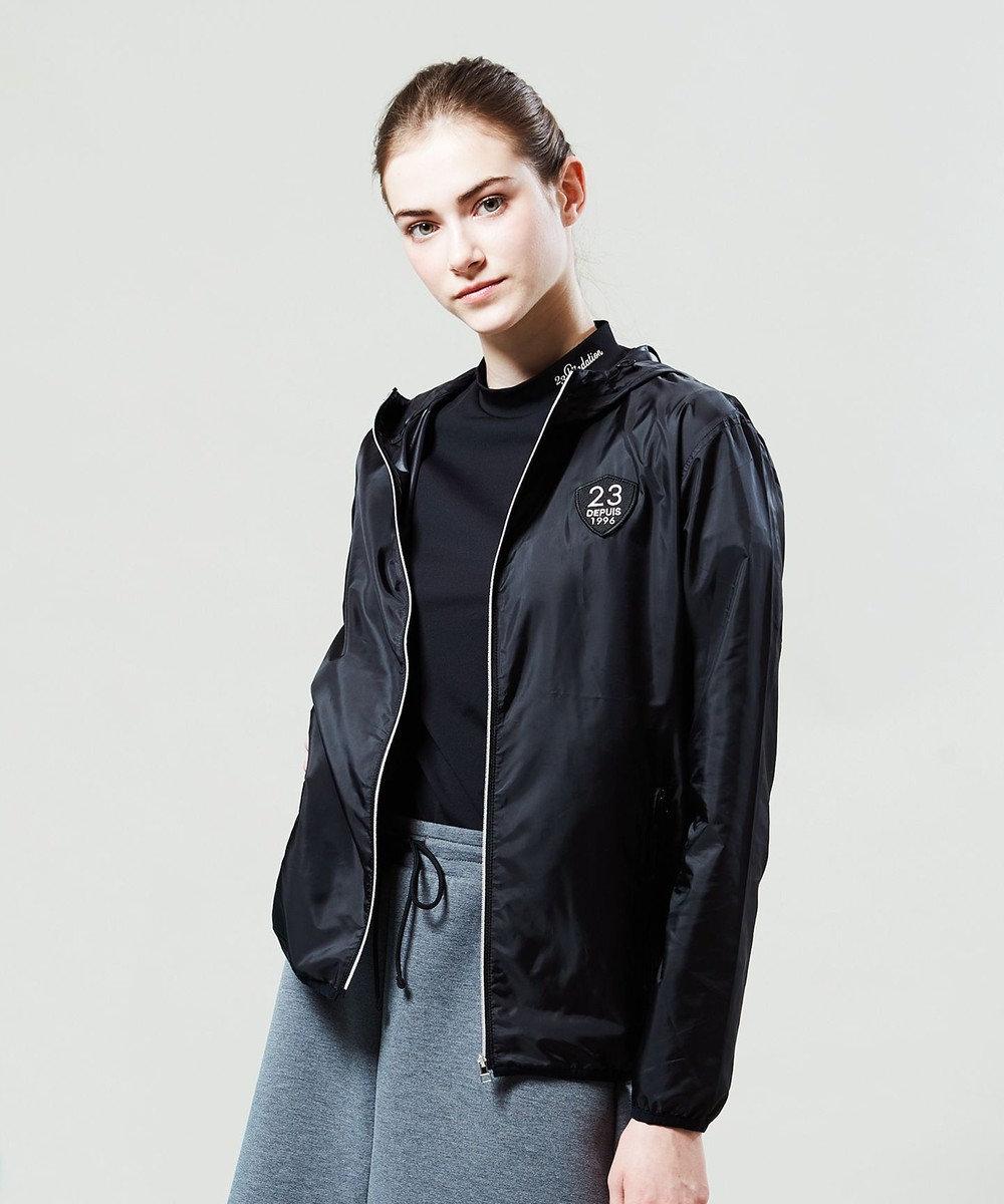 23区GOLF 【WOMEN】【Fondation/WEB限定】【UV/日本製】モックネック シャツ ブラック系