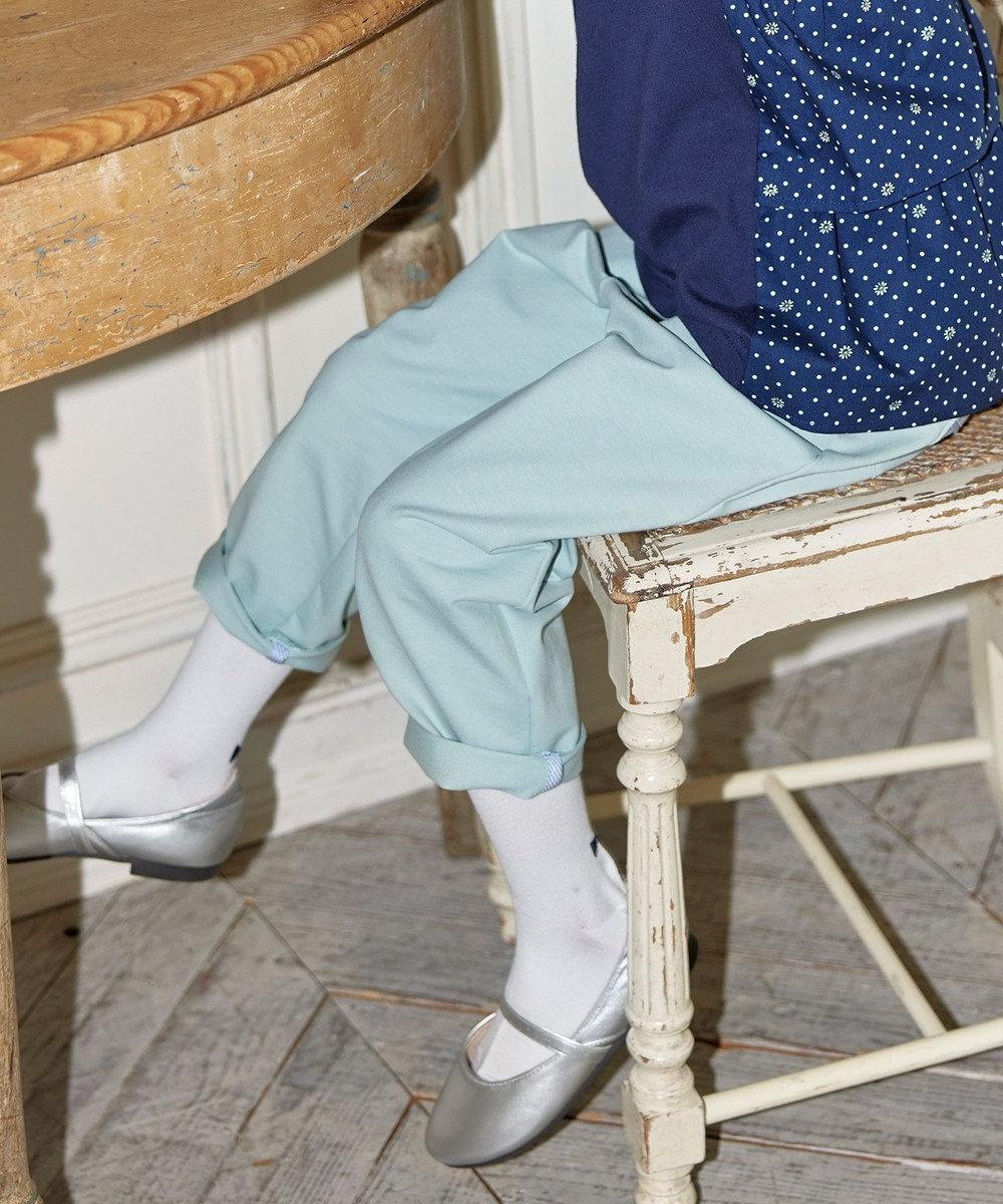 組曲 KIDS 【110-140cm】ストレッチツイル パンツ ミントグリーン系