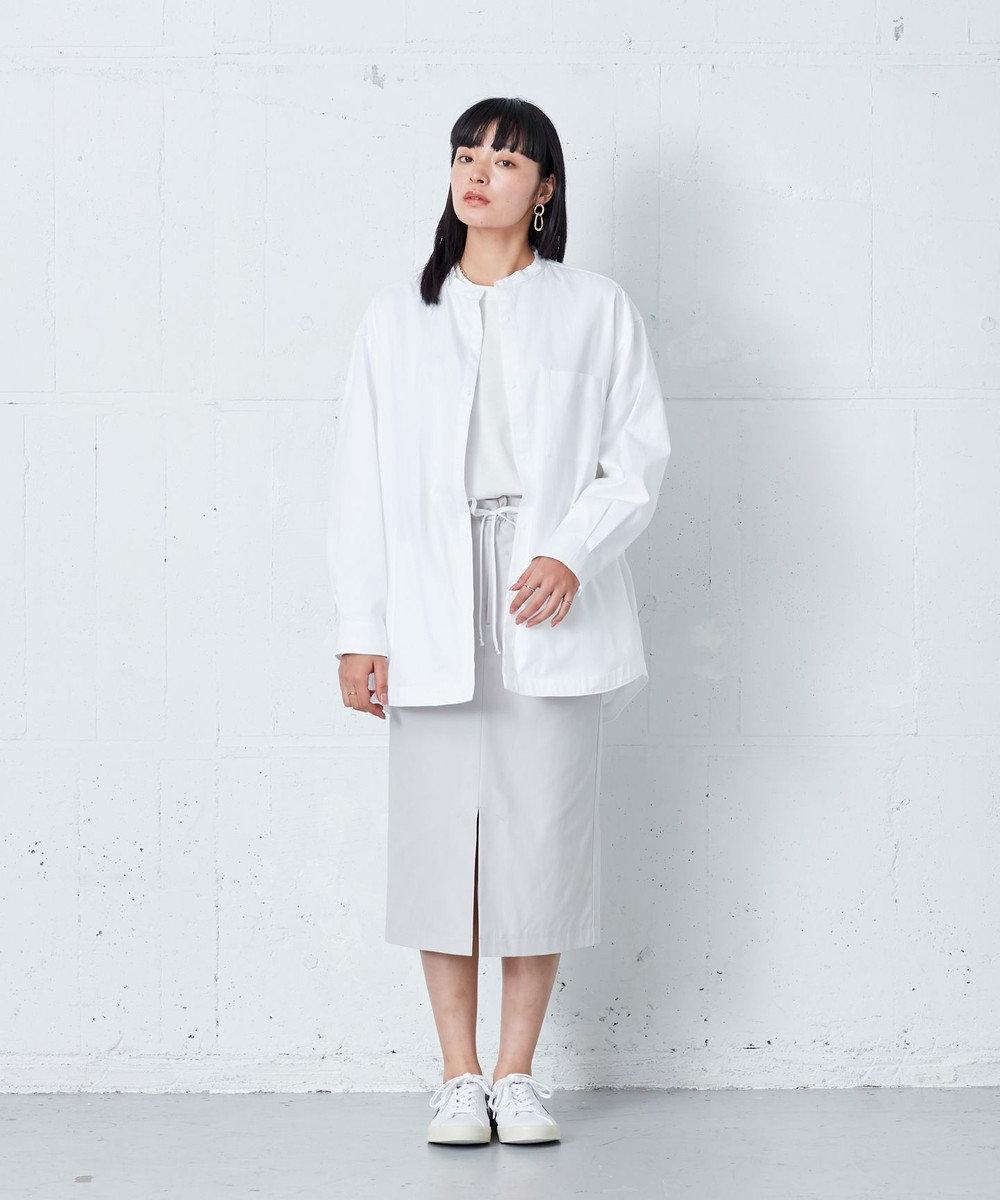 ONWARD Design Diversity 【IIQUAL】スタンドカラー シャツ ホワイト系