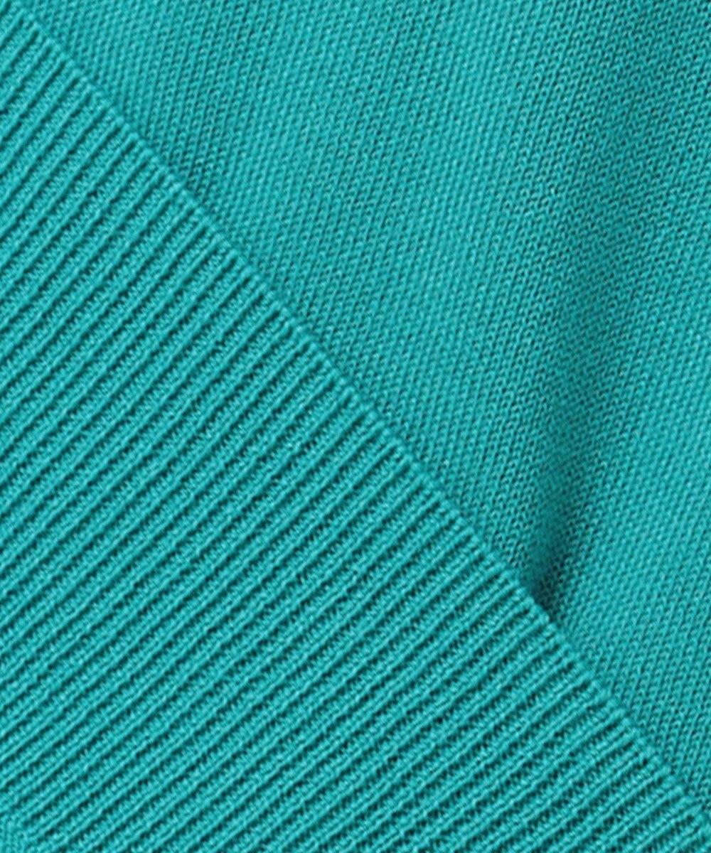 Paul Smith 【WEB限定カラーあり・洗える】カラーストライプネック ベーシック プルオーバーニット ピーコックグリーン系