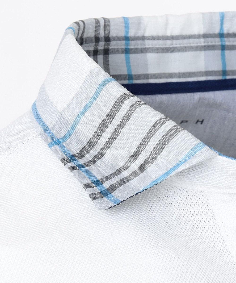 JOSEPH ABBOUD OGクールダディポロシャツ(サファリ柄・チェック柄) ホワイト系4