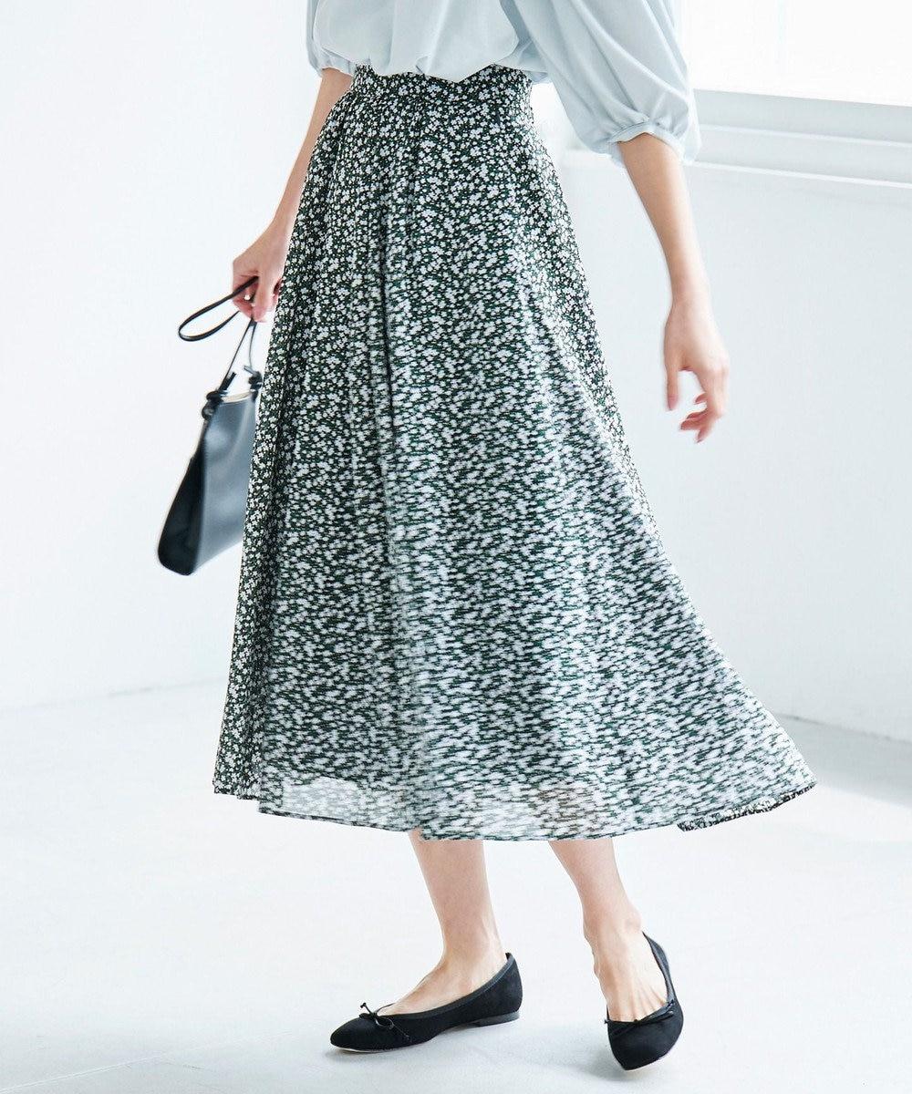 組曲 S 【洗える】プティフルールプリント スカート ネイビー系5
