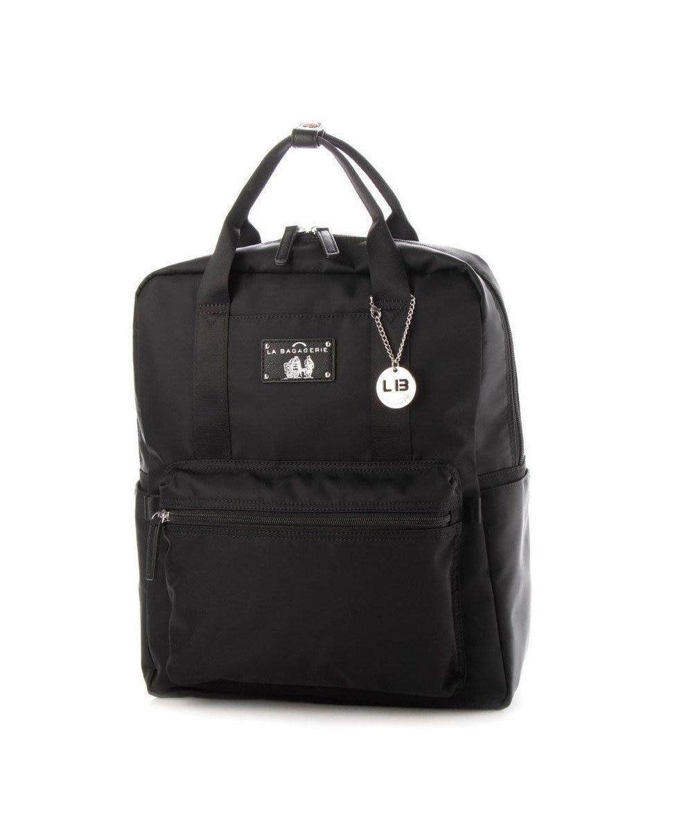 LA BAGAGERIE 10ポケット持ち手付きリュック Lサイズ ブラック