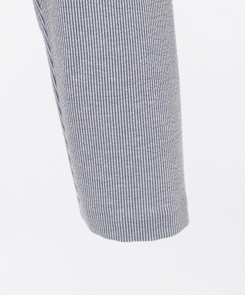 DAKS 【WEB&一部店舗限定】コットンリネンストライプジャージー ジャケット サックスブルー系1