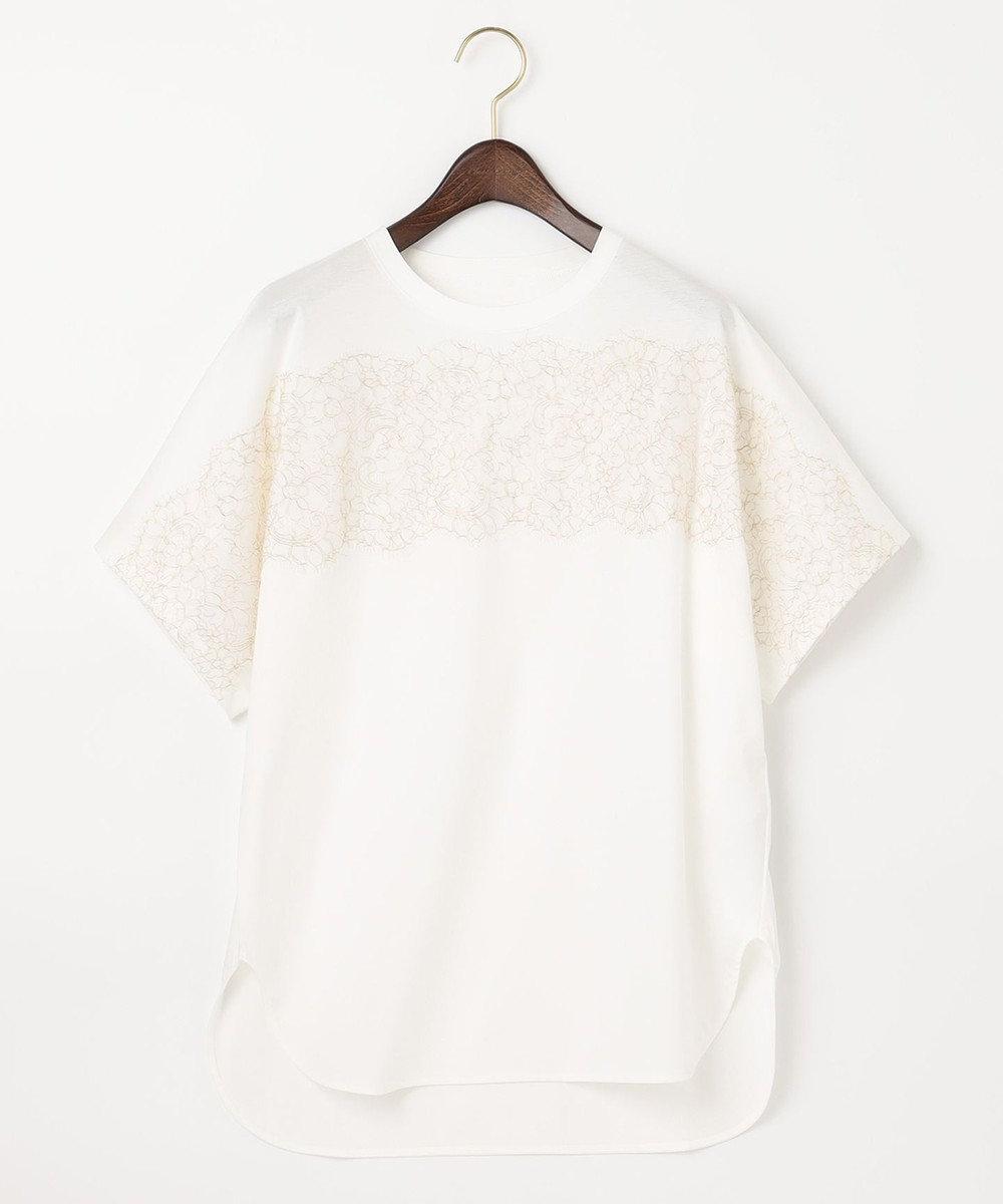 自由区 【Class Lounge】ソフィアレットレースコンビ Tシャツ ホワイト系