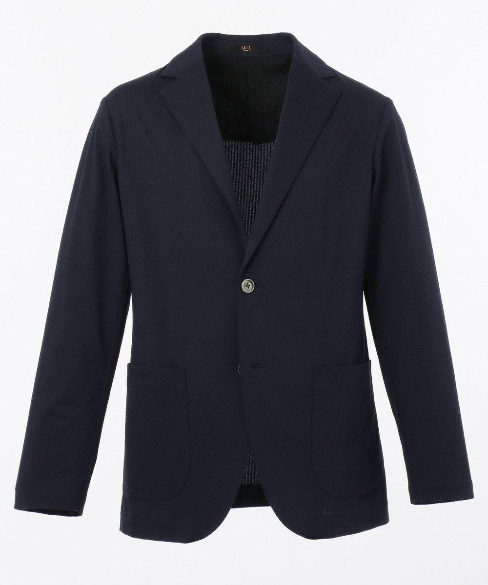 DAKS 【WEB&一部店舗限定】コットンリネンストライプジャージー ジャケット ネイビー系1