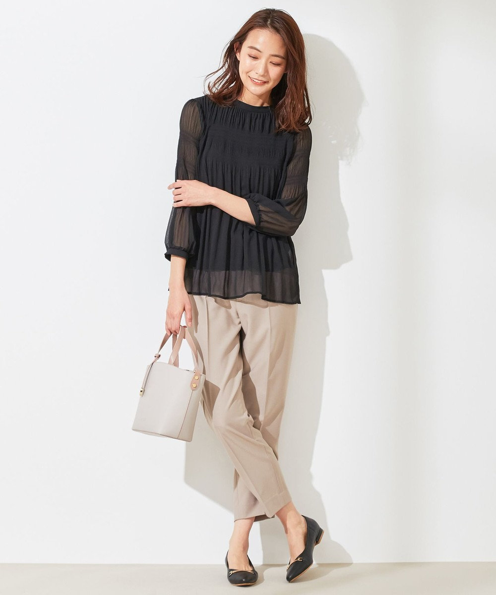any SiS S 【美人百花5月号掲載】2WAYレディテーパード パンツ ライトモカ