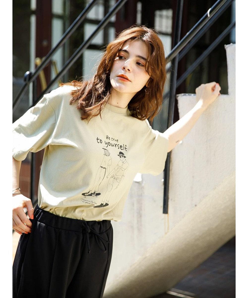 koe プリントTシャツ A