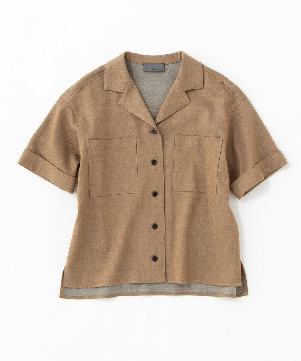 uncrave シャンブレーオックス 開襟シャツ キャメル