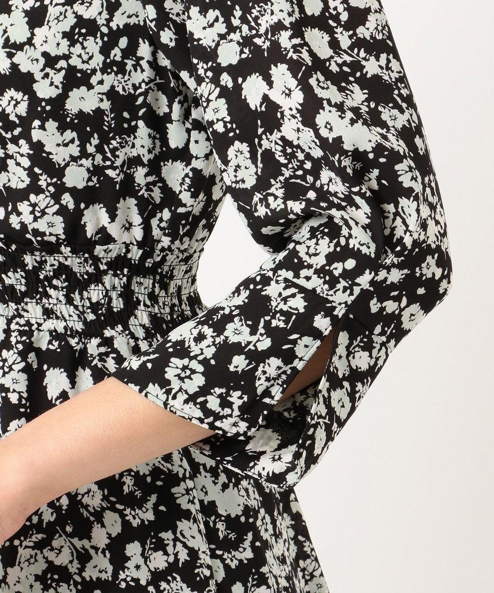 Feroux 【洗える】フローティーフラワープリント ワンピース ブラック系3