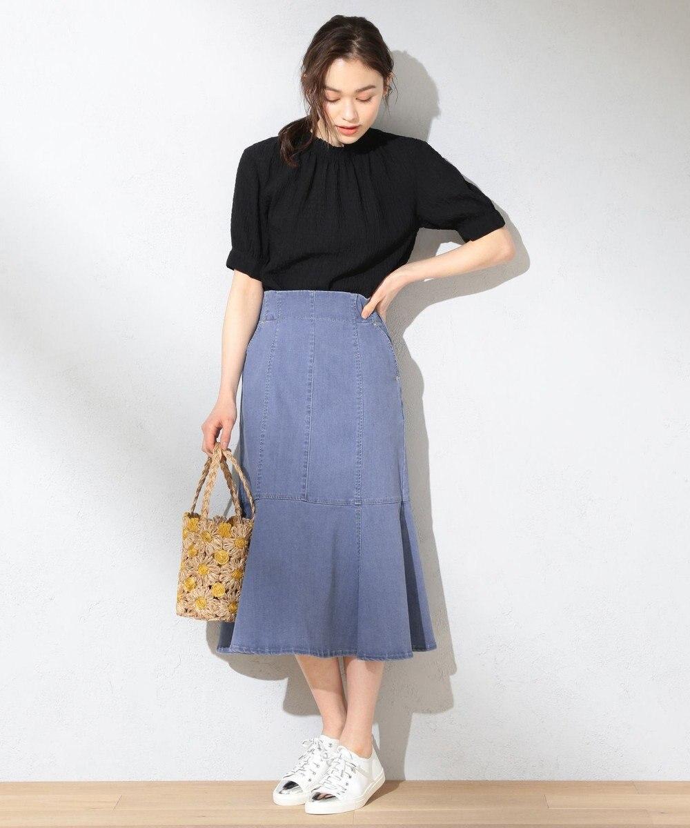 Feroux 【美人百花6月号掲載】アイスキャンディデニム スカート ブリーチ