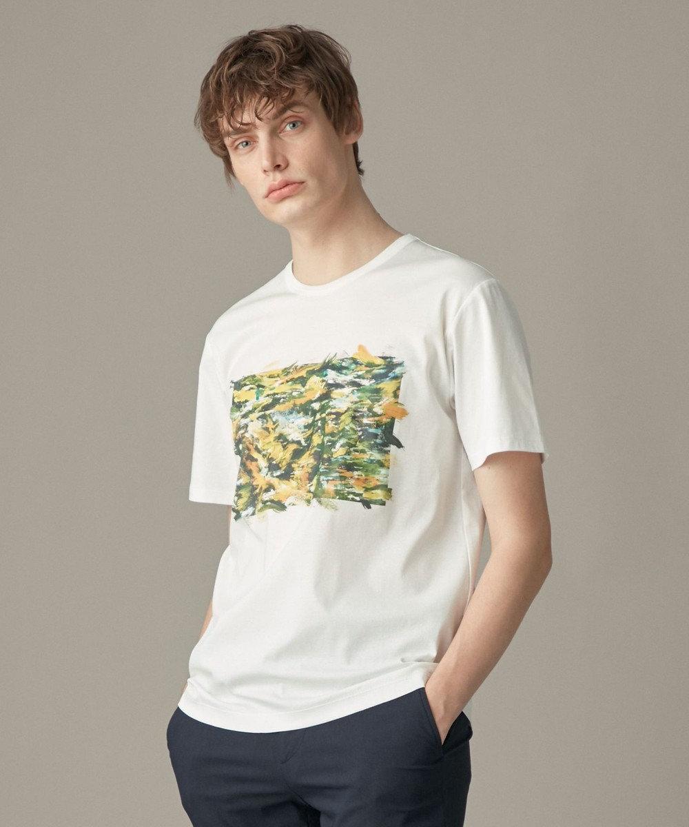 JOSEPH HOMME ブラッシュドプリント Tシャツ ホワイト系
