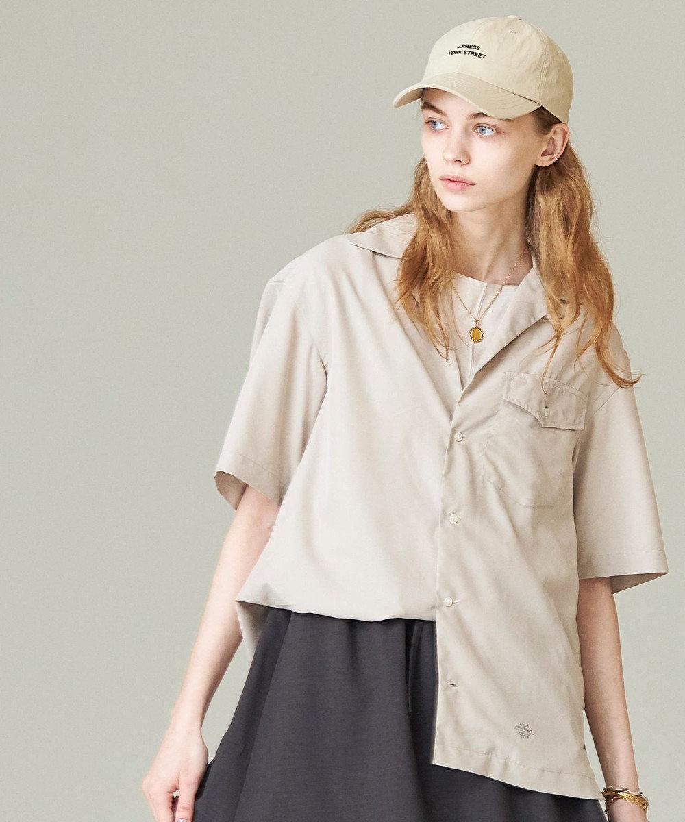 J.PRESS YORK STREET 【UNISEX】パウダーシフォン オープンカラーシャツ ベージュ系