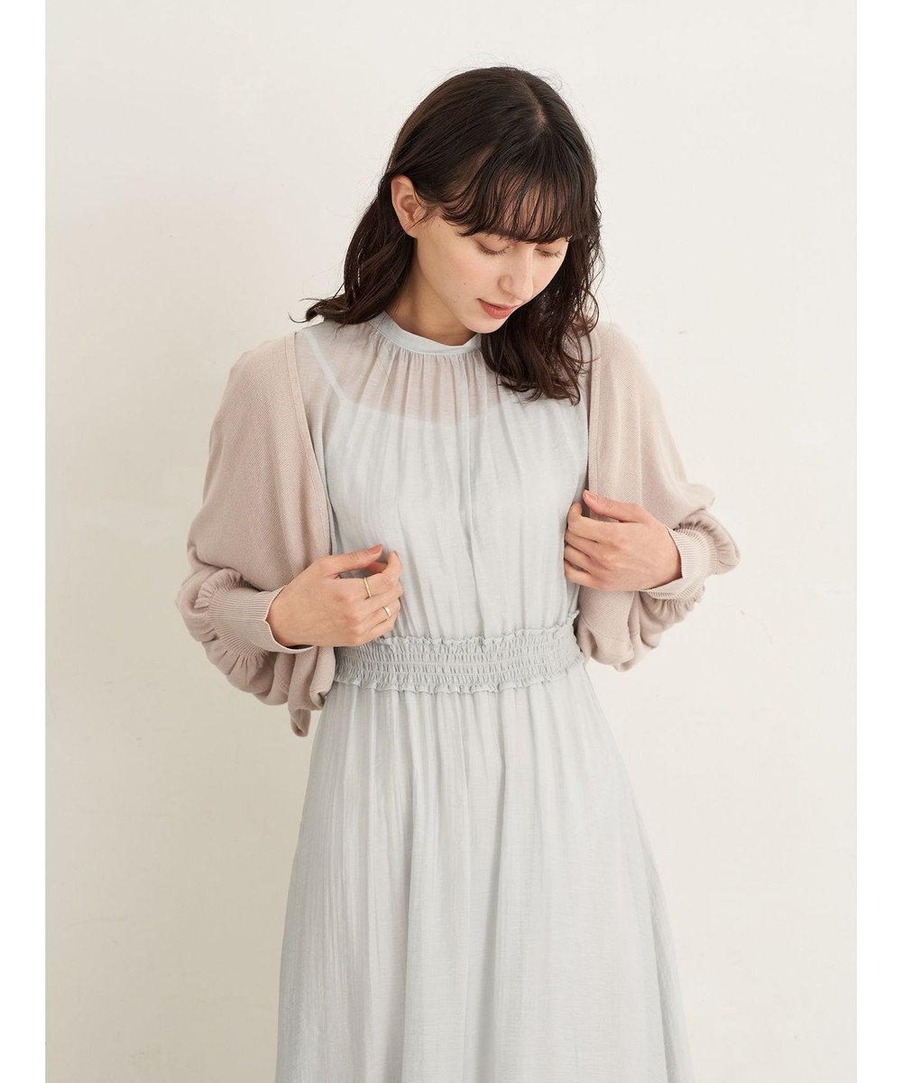 earth music&ecology バックリボンボレロカーディガン Beige