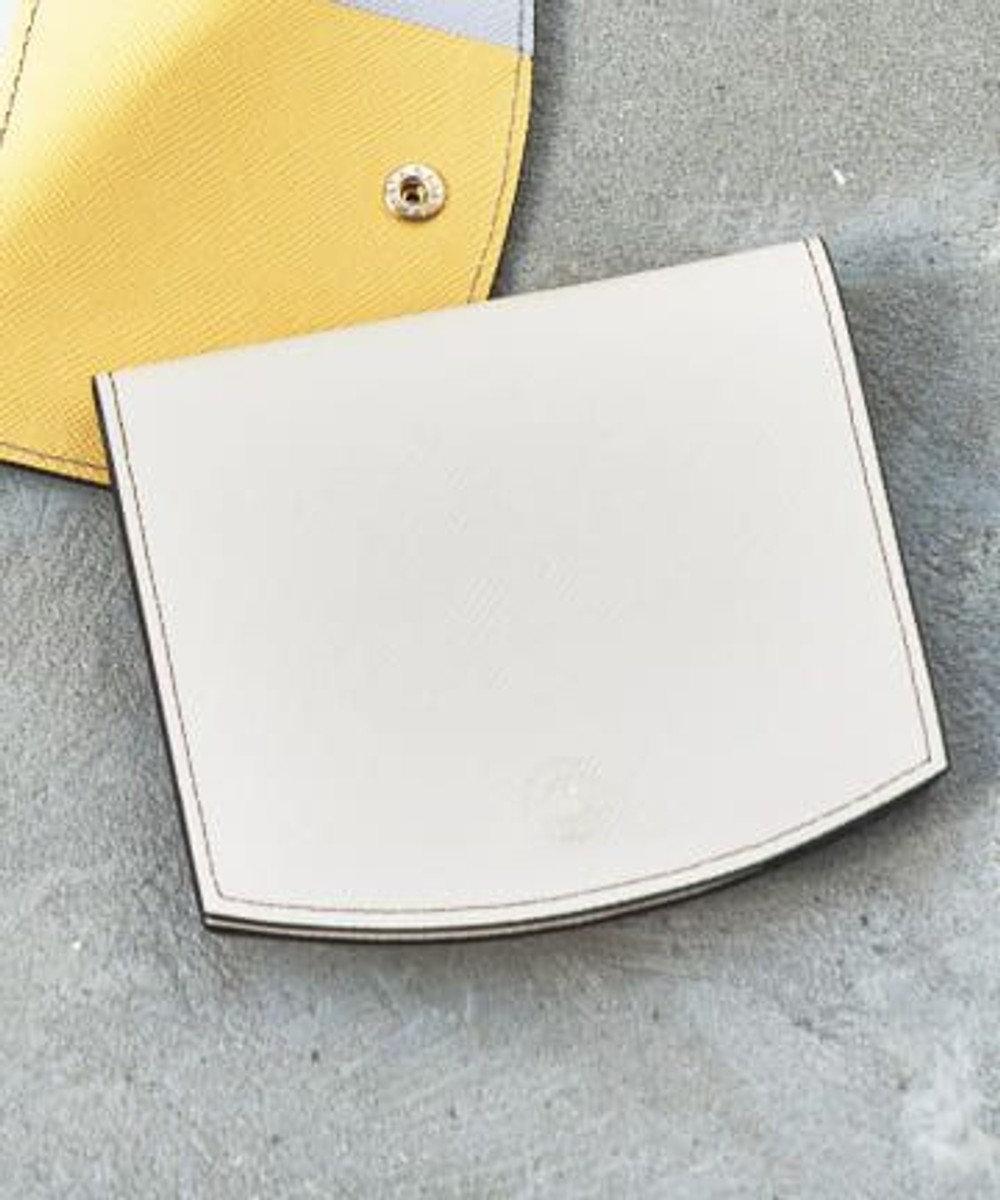 russet バイカラーレザー折り財布(SO-320) Ivory/BR