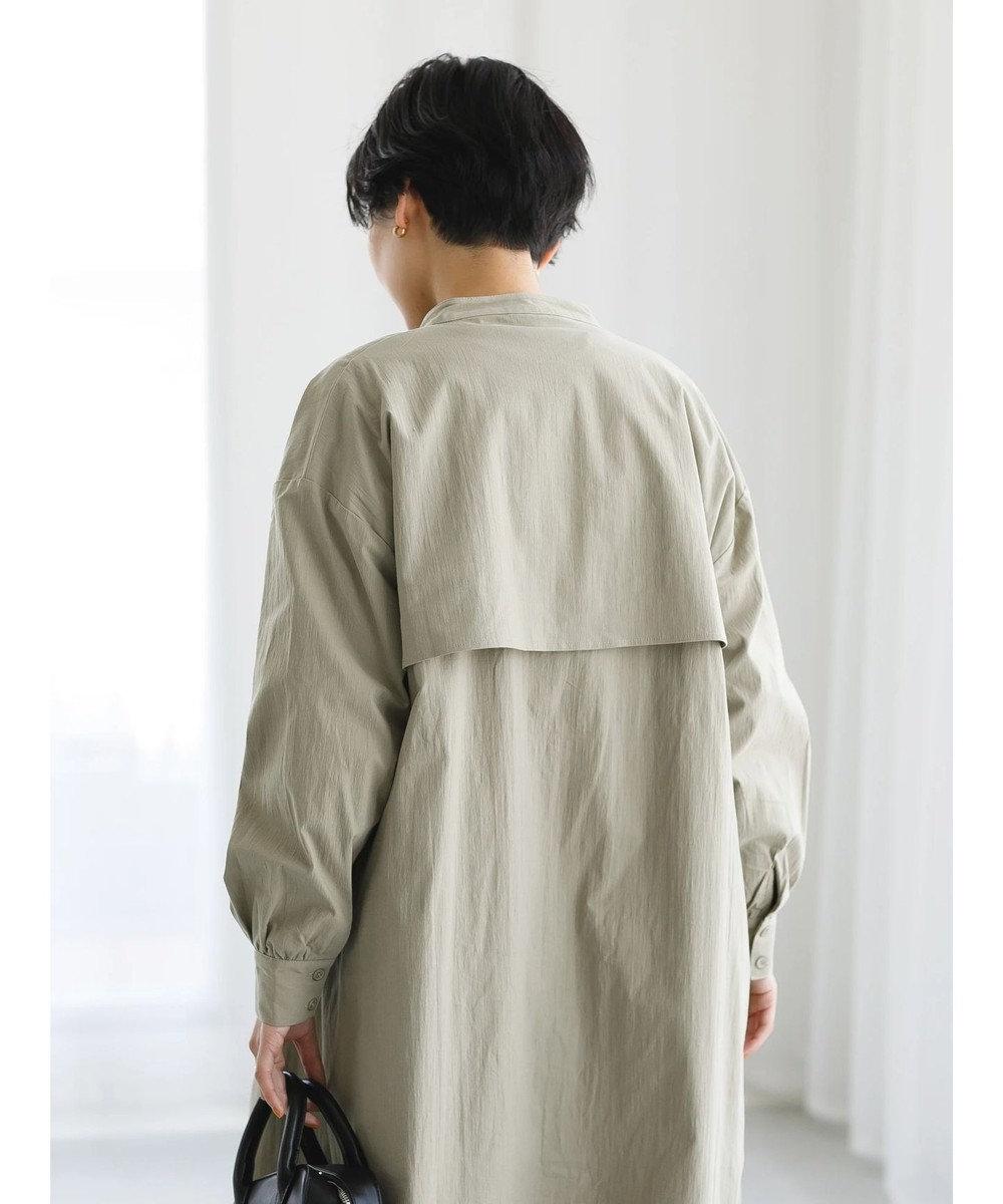 koe バンドカラーシャツ羽織 Khaki