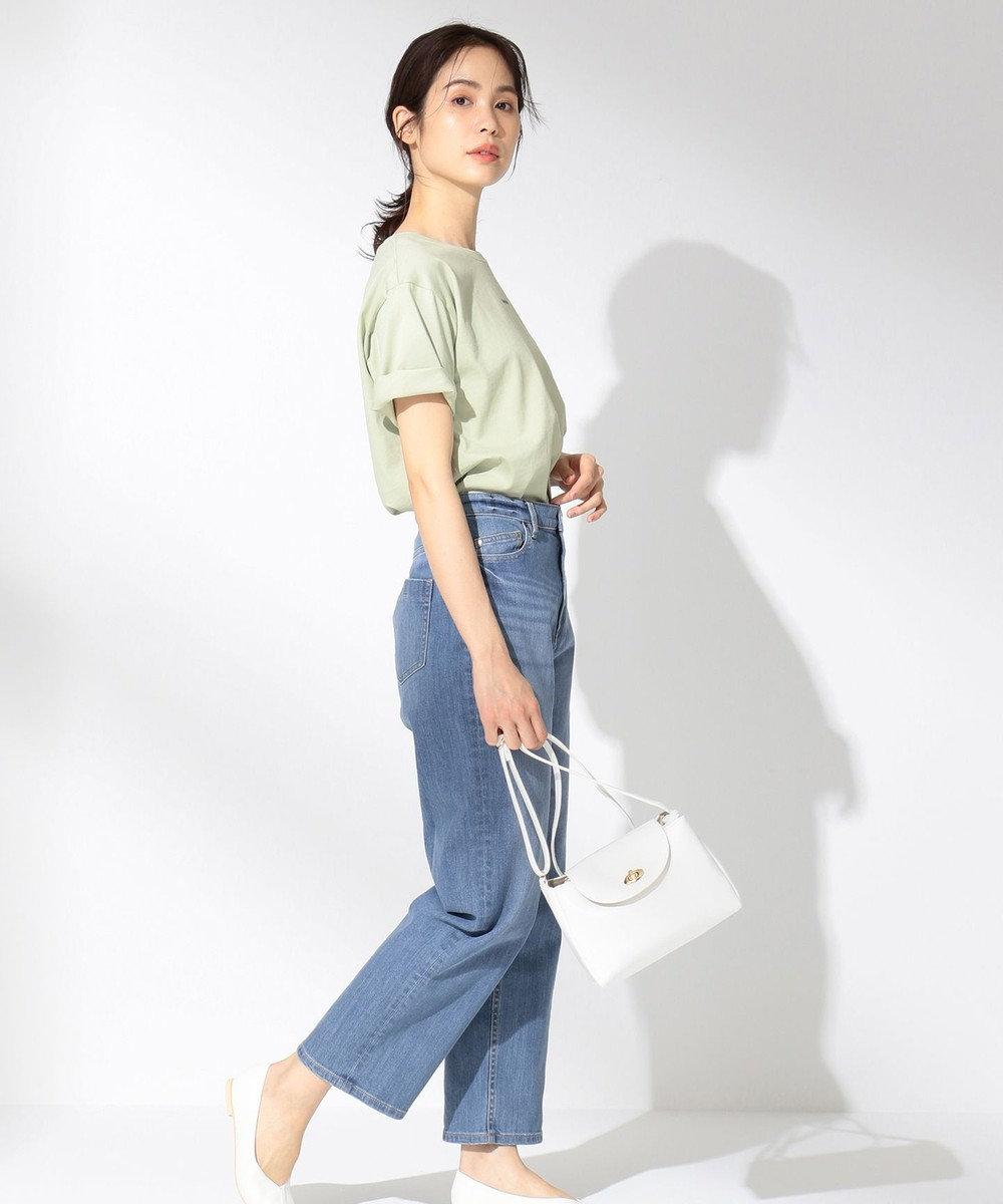 any FAM 【オーガニックコットン】オーガビッツロゴ Tシャツ ライトグリーン系