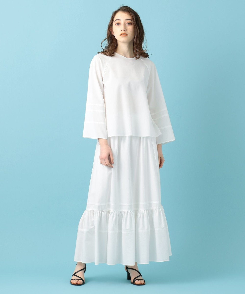 #Newans 【マガジン掲載】ソフトレーヨンセットアップ(番号NF43) ホワイト系