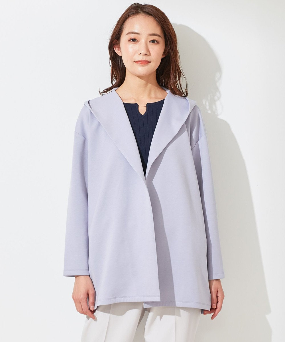 any SiS 【洗える】スポンディッシュ フーディー カーディガン ブルーグレー