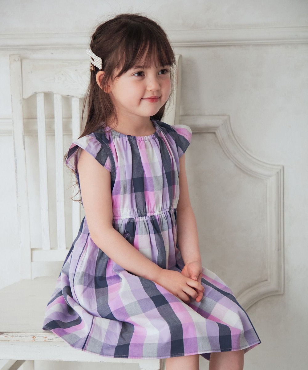 any FAM KIDS 総柄サマー ワンピース チェック