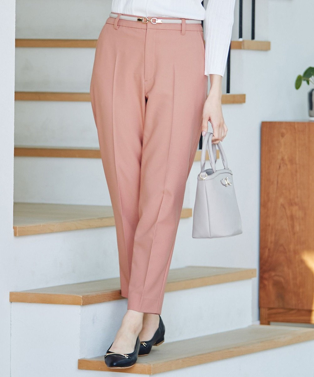any SiS S 【美人百花5月号掲載】2WAYレディテーパード パンツ スモーキーピンク